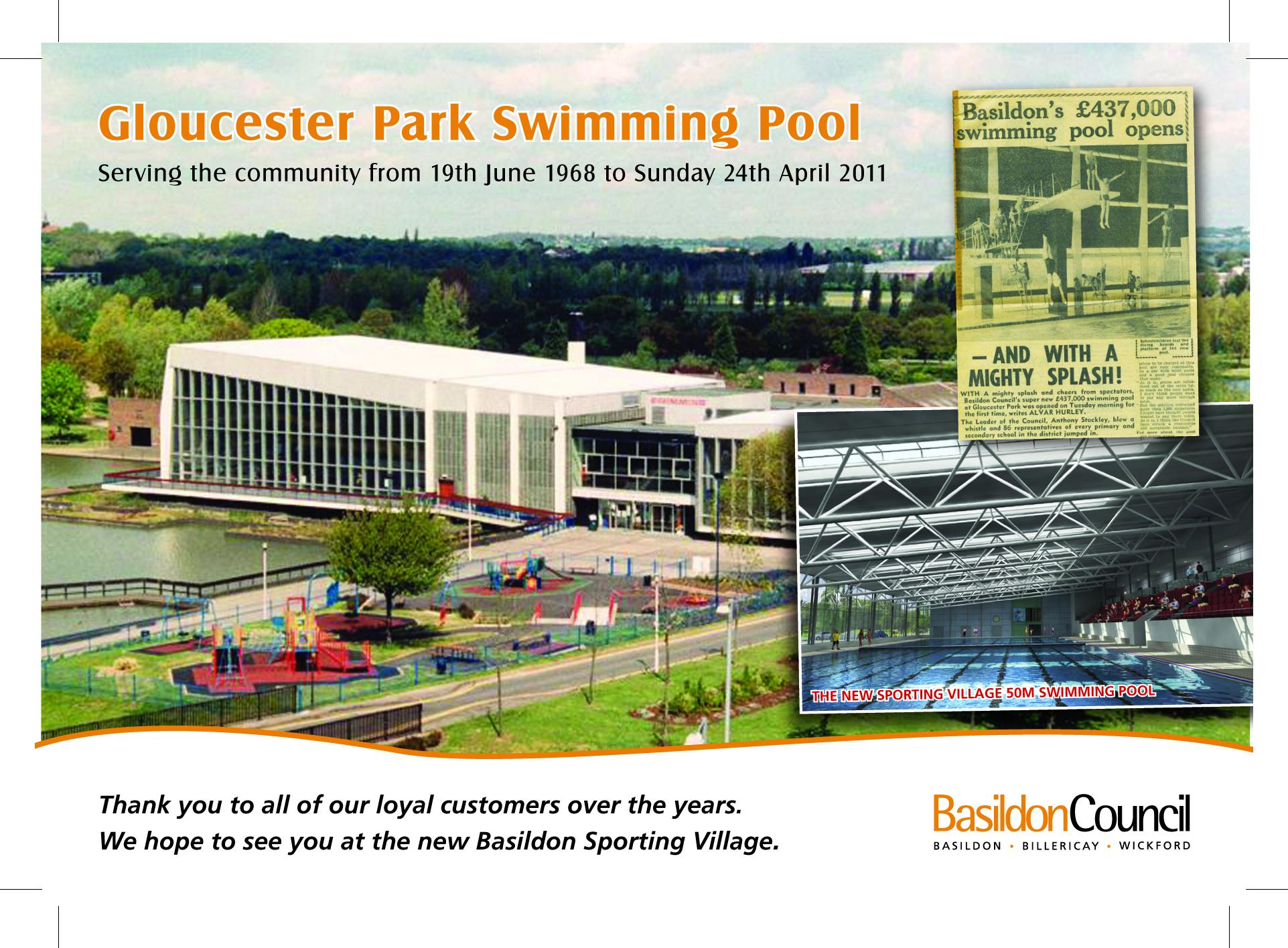 Basildon Council Final Splash At Gloucester Park Pool