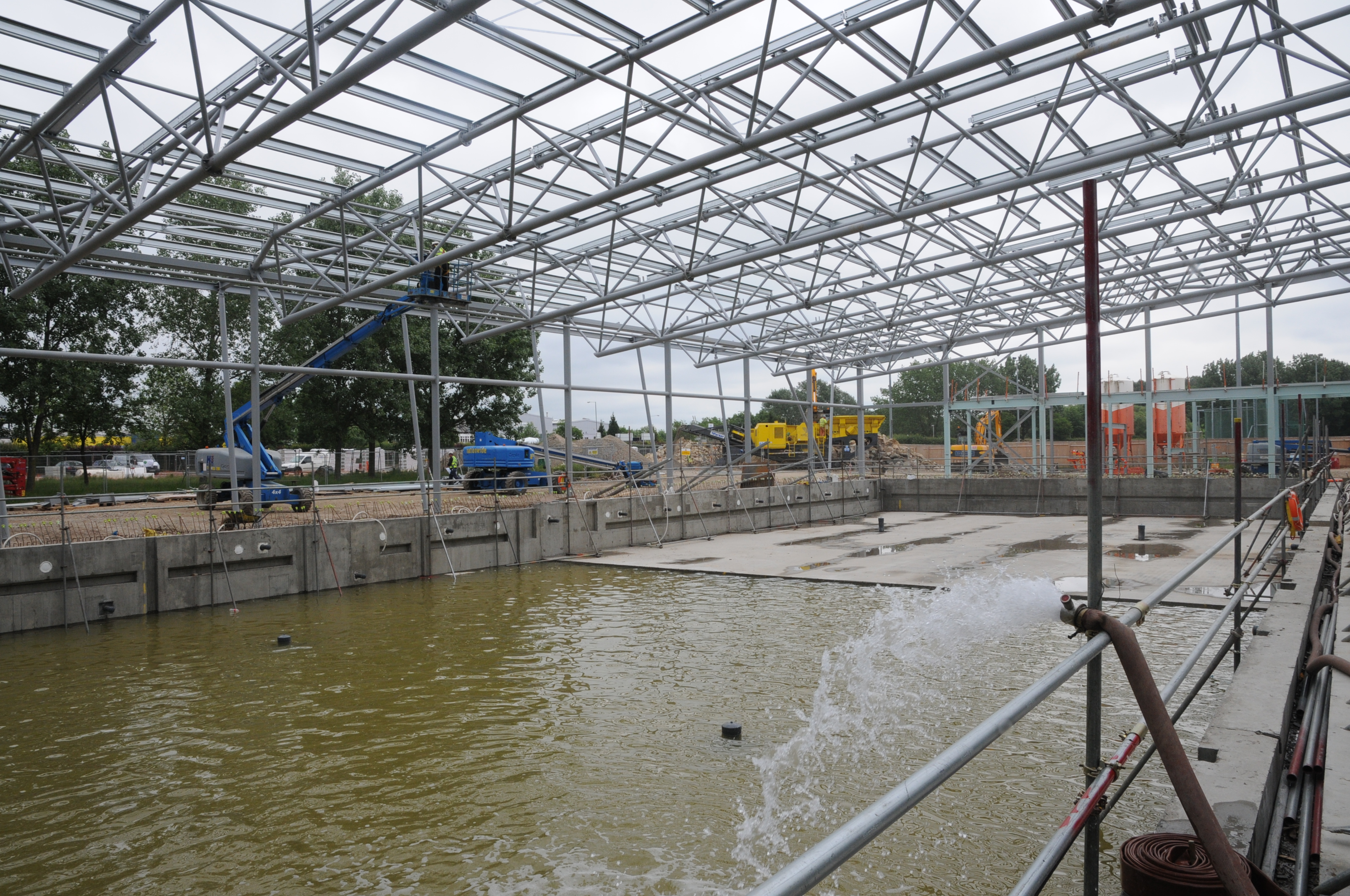 Basildon Council Steel Frame Completed On Basildon Sporting Village