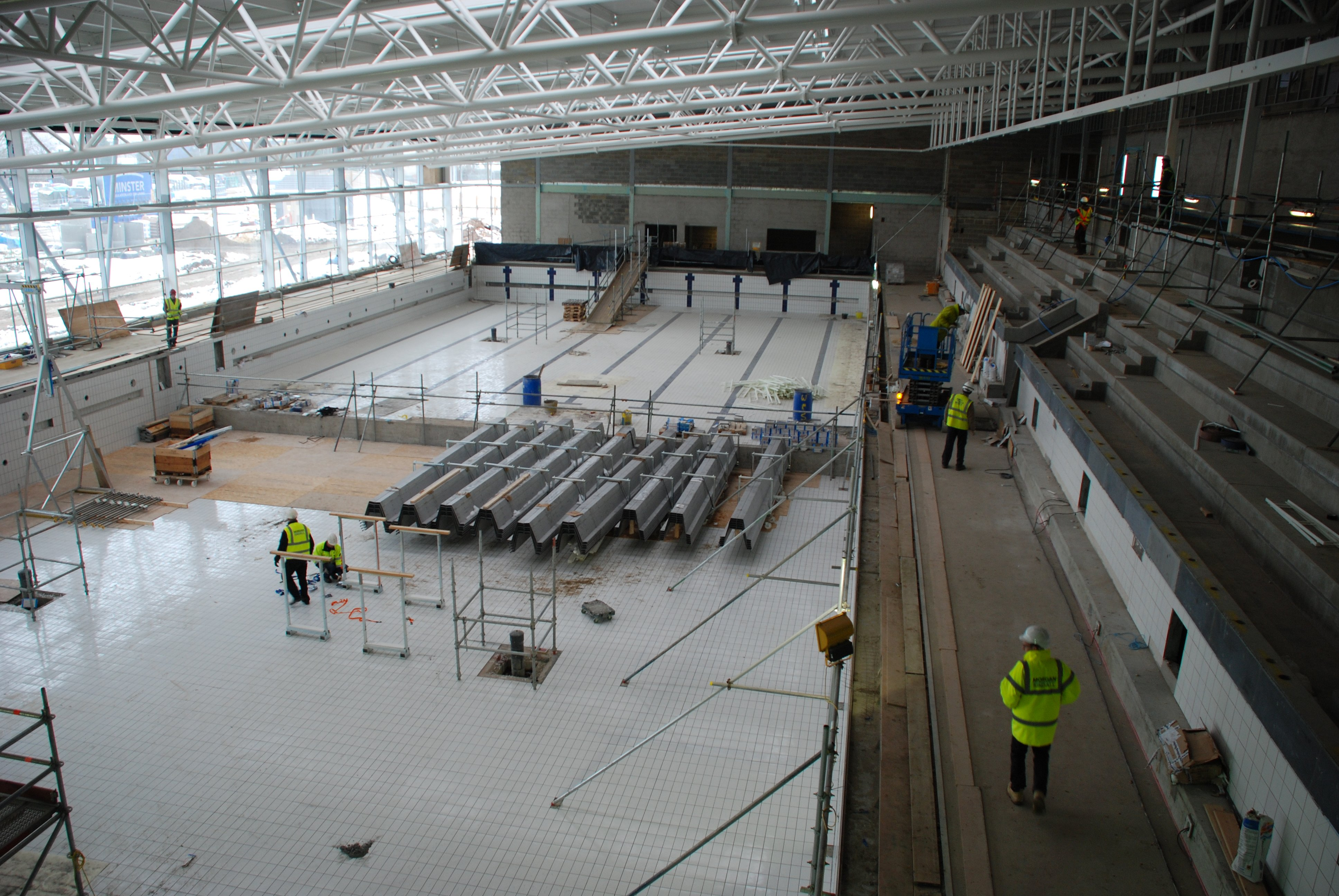 Basildon council county 39 s first 50 metre pool takes shape for Basildon sporting village swimming pool